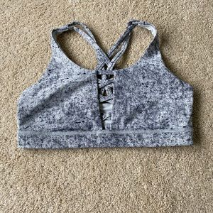 Lululemon speckled gray sports bra